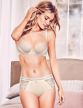 Silk Set with Padded Plunge A-DD, , catlanding