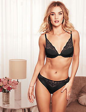 Silk & Lace Set with High Apex Plunge A-E