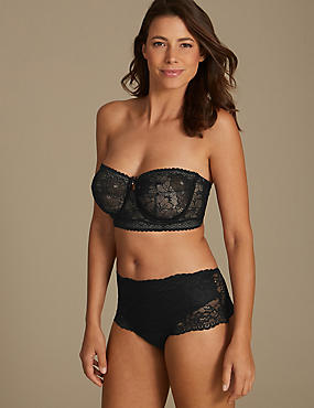 All Over Lace Set with Non-Padded Strapless DD-G