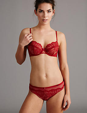 Dentelle Lace Set with Non Padded Balcony A-DD