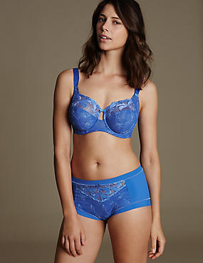 Hibiscus Embroidered Set with Full Cup DD-H