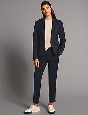 Wool Blend Blazer & Trousers Suit Set