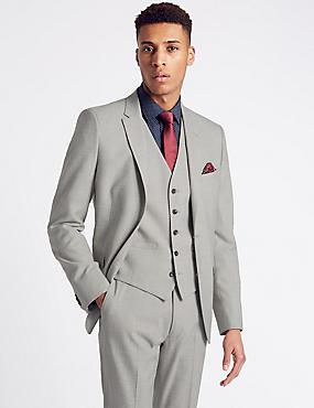Textured Modern Slim Fit 3 Piece Suit, , catlanding