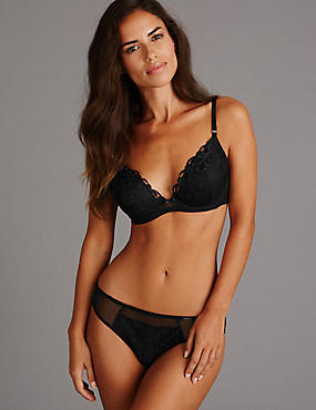 Embroidered Set with Padded Plunge A-E