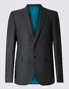 Charcoal Textured Slim Fit Suit
