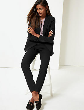Blazer & Slim Leg Trousers Suit Set, , catlanding