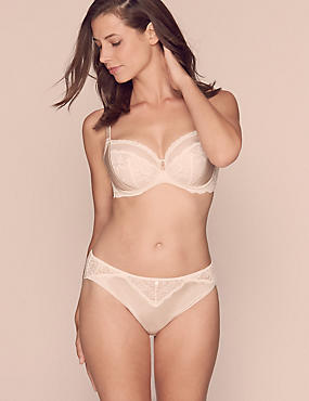 Silk & Lace Set with Non Padded Balcony A-E