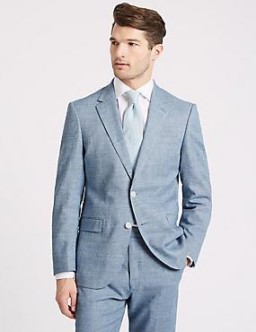 Linen Miracle Regular Fit Textured Suit, , catlanding