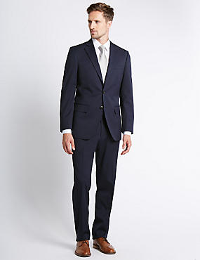 Indigo Regular Fit Suit with Buttonsafe™