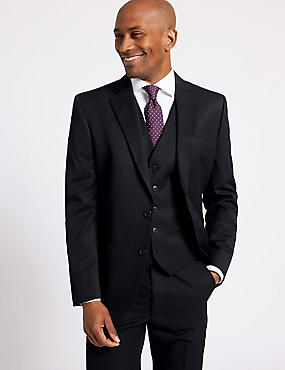 Navy Regular Fit 3 Piece Suit, , catlanding