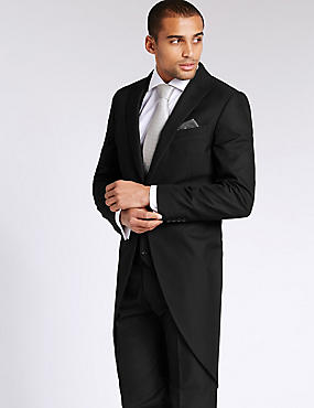 Black Tailored Fit Morning Suit