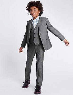 Grey Tailored Fit Suit (3-14 Years)