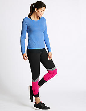 Quick Dry Long Sleeve Top & Leggings Outfit , , catlanding