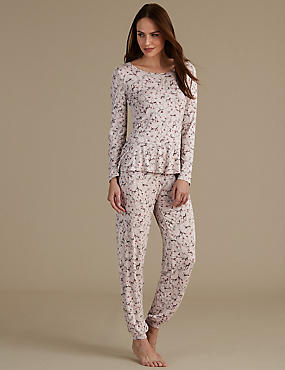 Peplum Long Sleeve Pyjama Set