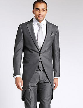 Grey Tailored Morning Suit with Waistcoat