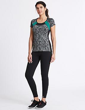 Printed T-Shirt & Leggings Outfit, , catlanding