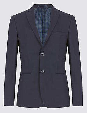 Navy Modern Slim Fit Suit Including Waistcoat