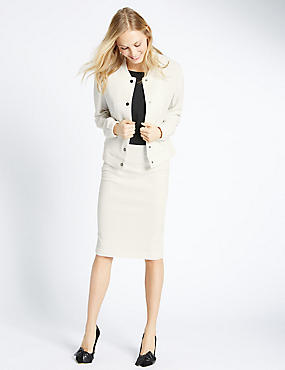 Textured Jacket & Skirt Set