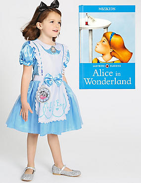 Kids' Alice in Wonderland Costume with Book