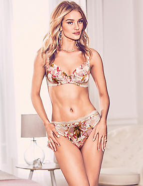 Silk & Lace Set with Padded Full Cup A-E , , catlanding