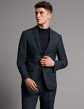 Denim Tailored Fit Suit with Buttonsafe™
