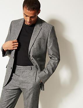 Textured Regular Fit Suit, , catlanding