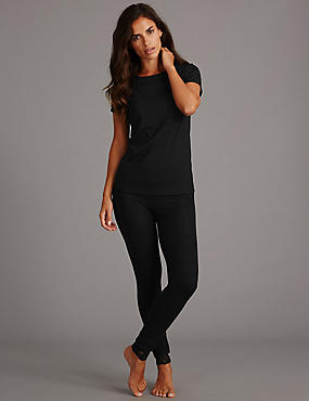 Short Sleeve Top & Thermal Leggings Set