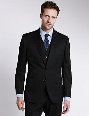 Big & Tall Black Regular Fit 3 Piece Suit