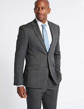 Grey Tailored Fit Suit with Buttonsafe ™