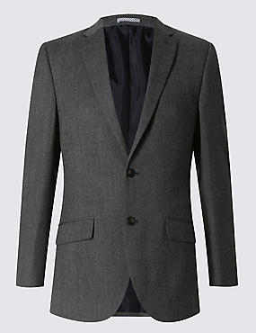 Grey Tailored Fit Suit with Buttonsafe™