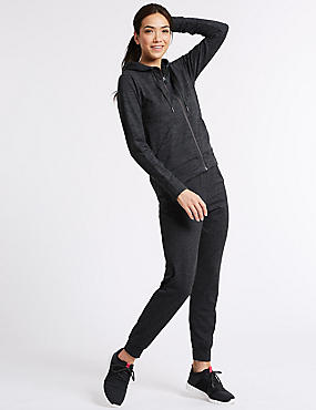 Brushed Hooded Top & Joggers Outfit , , catlanding