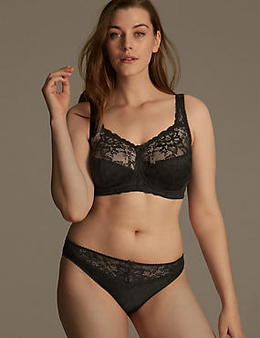 Jacquard Lace Set with Full Cup B-G