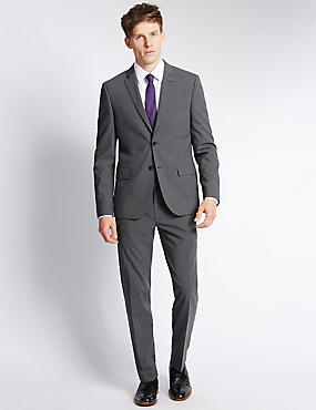Grey Modern Tailored Fit Suit