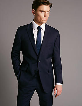 Navy Tailored Fit Wool Rich with Lycra Suit