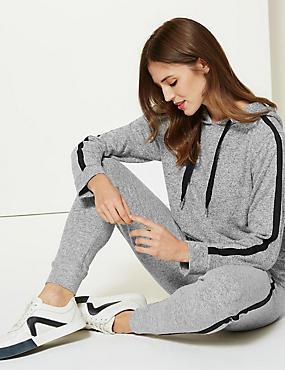 Textured Sweatshirt & Slim Leg Joggers Set, , catlanding
