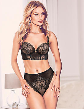 Embroidered Lace Set with Padded Balcony A-E, , catlanding