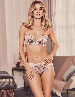 Silk & Lace Floral Set with Padded Balcony A-E