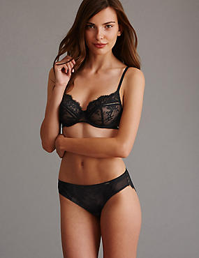 Dentelle Lace Set with Non Padded Full Cup A-DD