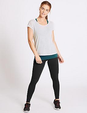 Burnout Double Layer Top & Leggings Outfit, , catlanding