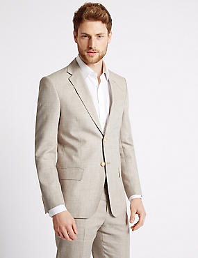 Big & Tall Textured Regular Fit Suit