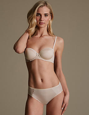 Sumptuously Soft Set with Ultimate Comfort Lace Trim Strapless A-D