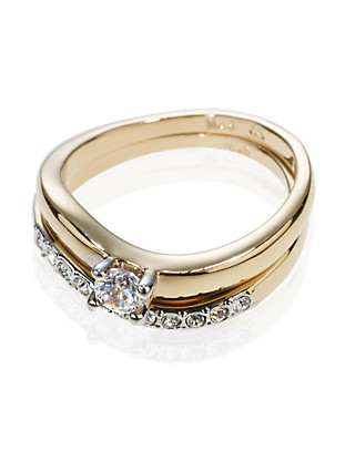 Gold Plated Wedding Band Duo Rings Clothing