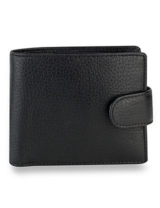 Luxury Leather Hip Coin ID Tab Wallet Clothing
