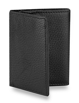 Luxury Leather Tri-Fold Wallet Clothing