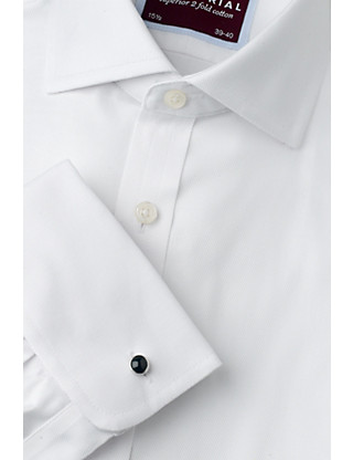 2in Longer Pure Cotton Ultimate Non-Iron Twill Shirt Clothing