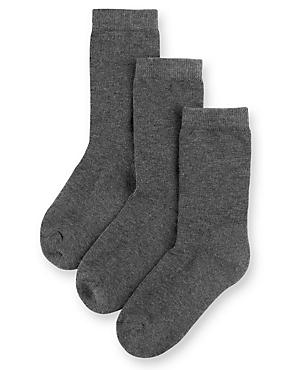 3 Pairs of Freshfeet™ Ultimate Comfort Socks with Modal & Silver Technology (5-14 Years)