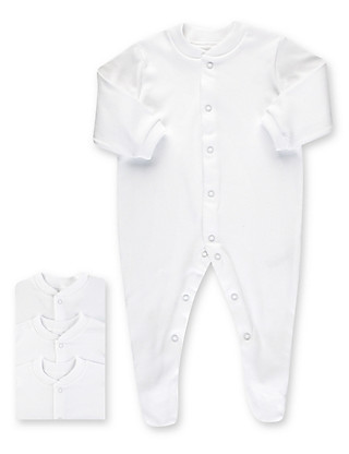3 Pack Pure Cotton Sleepsuits Clothing