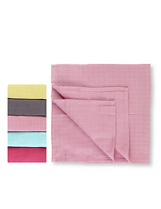 5 Pack Coloured Muslin Squares Clothing