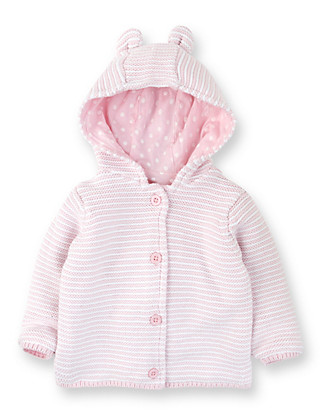 Pure Cotton Ears Hooded Cardigan Clothing