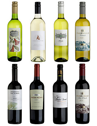 Modern Collection Mixed Red & White Dozen Wine